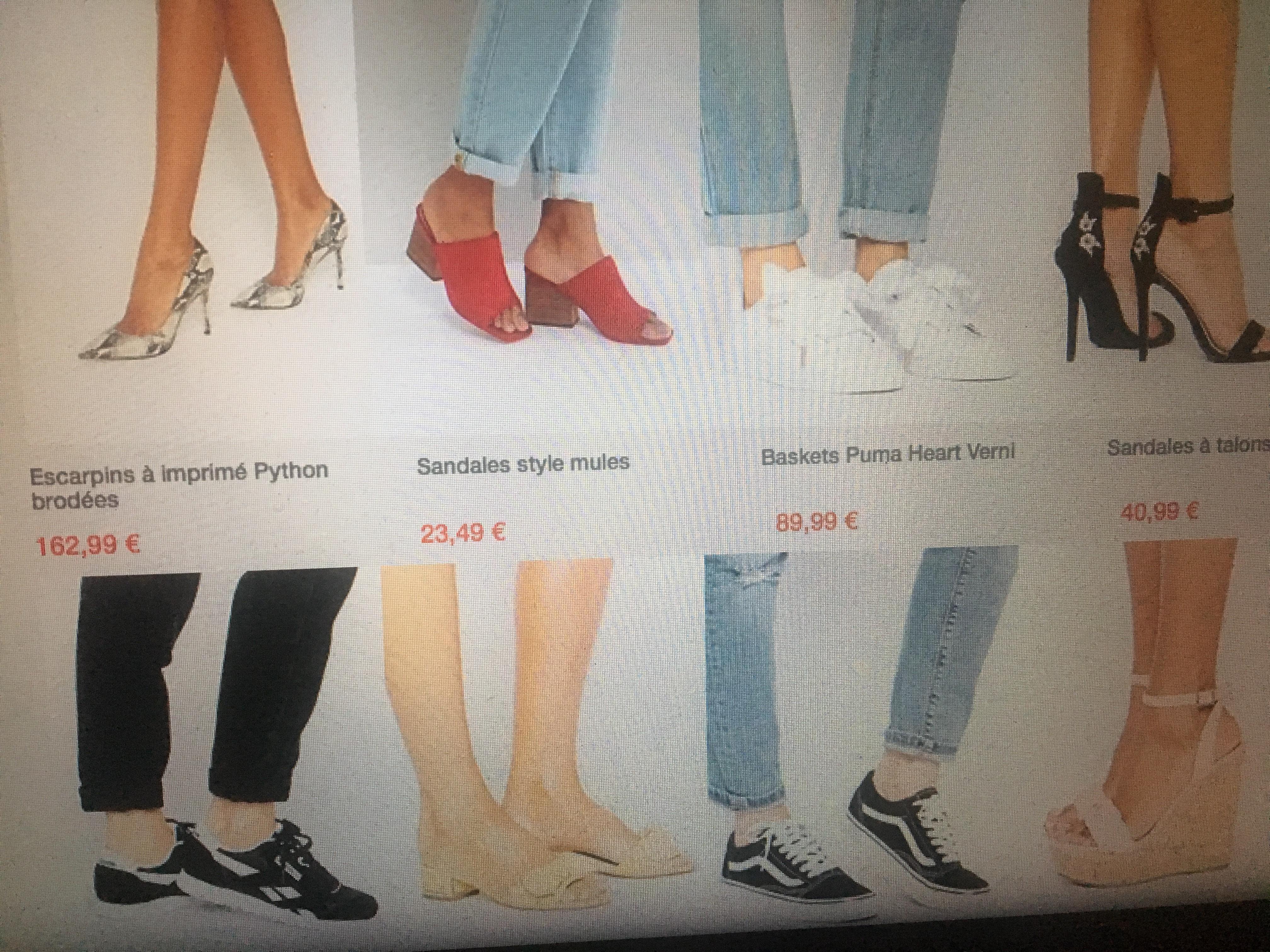 wishlist chaussures ASOS