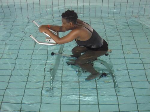 mon premier cours d'aquabiking