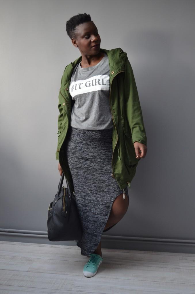 comment porter la jupe fendue avec style