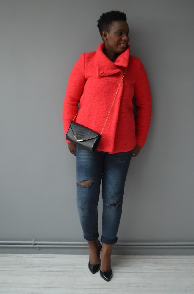 comment porter le manteau de couleur