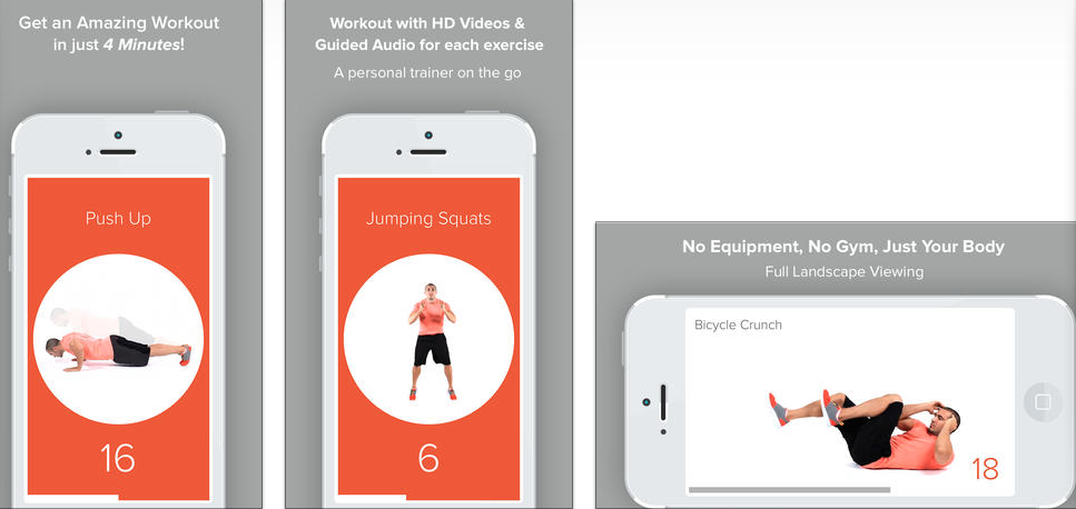 quick 4 minute workout tabata ios iphone